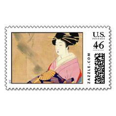 Miyagawa Shuntei Oiran japanese ukiyo-e art Postage Stamps