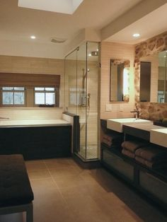 Contemporary Bathrooms from Joseph Stabilito on HGTV - Loving this modern double vanity with sleek storage