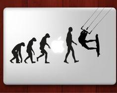 Macbook Decal Vinyl sticker Kitesurfing Evolution - Kite