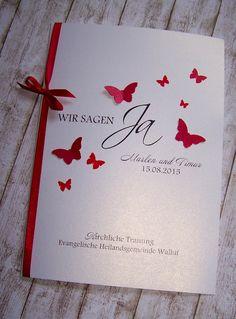 Kirchenheft Hochzeit rot