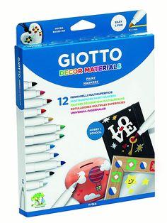 Shop Giotto Decor Materials Permanent Pen Set at Artsy Sister. Marker Pen, Permanent Marker, Pebble Painting, Pen Sets, Paint Markers, E Bay, Craft Activities, Artsy, Home