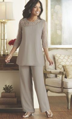 J0an Rivers 2015 Silver Mother Of The Bride Pants Suits For Weddings Plus Size Two Pieces Beaded Chiffon Pant Suits For Mothers Bride Custom Made Mother Of The Bride Suit From Juliaweddingdress, $121.37| Dhgate.Com