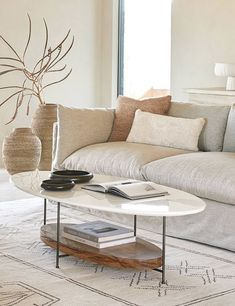 White Couch Living Room, Cream Living Rooms, Living Room Colors, Living Room Modern, Living Room Designs, Neutral Living Rooms, Cream And White Living Room, Southern Living Rooms, Bright Living Room Decor