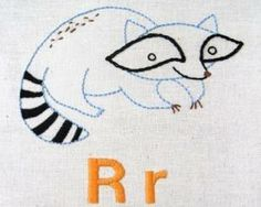 purl soho | products | item | alphabet embroidery patterns (penguin & fish)