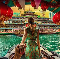 151. #followmeto the Jumbo Kingdom in Hong Kong (the photo series by Russian Photographer, Murad Osmann)