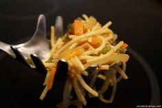 Espaguetis con verduritas en wock