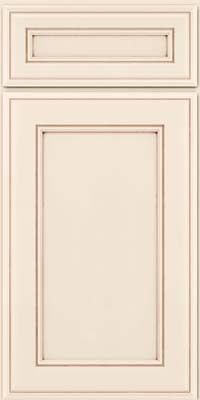 Door detail square recessed panel veneer aa6m maple for Dove white cabinets with cocoa glaze