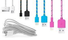 Groupon Goods Global GmbH: Câble tressé 1 ou 3 mètres pour smartphones et tablettes dès 3,98 € (jusqu'à 82% de réduction)