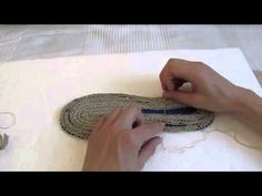 DiY How To Make 4 Strand Braided Shoe Soles: PART 1a: