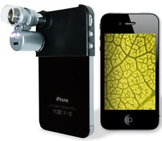 a microscope for your iPhone. This is the kind of thing I'd lost hours using