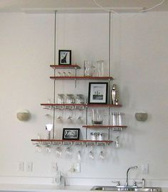 floating shelf threaded rod - Google Search