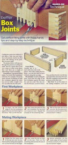 Box Joint Techniques - Joinery Tips, Jigs and Techniques | WoodArchivist.com