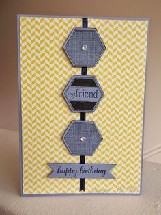 Stampin' Up! Muse: Quick card for a male birthday