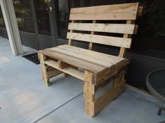 building wooden benches out of pallets   ... Thomas for submitting his photos of two of pallet furniture projects