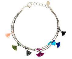 Shashi - Silver Olivia Tassel Bracelet in Designers Shashi Bracelets at TWISTonline