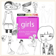 colouring pages for girls