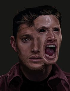 Some extremely intense Demon!Dean fan art. Whoa. Uncredited - if you know the artist, please let me know.