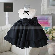 Black and white flower girl dress, Junior Bridesmaid dress, Christening dress, Baby girl flower Dress, tulle girl Dress, first birthday outfit./Big Black Bow Party Dress Available from 3 months until 12 years old. Material: Cotton, satin, polyester fiber, tulle mesh. Free shipping.