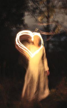 #love girl #lightpainting #nature