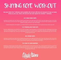 Skipping Rope Workout! – Kayla Itsines