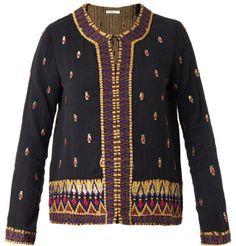 Mes Demoiselles Keanu embroidered cotton jacket on shopstyle.co.uk