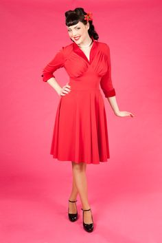 Pinup Fashion: Miss Candyfloss Ellenor-Rose - Stretch retro dress