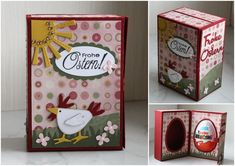 Steffi´s Stempelkeller : Cameo-Freebie for creating this card style box to hold a Kinder Surprise...great for party favours and Easter