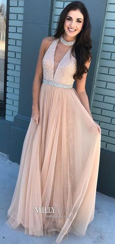 Pink Beaded Bodice High Neck Long Tulle Prom Dresses Sleeveless Prom Dresses, High Neck Prom Dresses, Prom Dresses A-Line, Prom Dresses Long, Prom Dresses Pink Prom Dresses Long Cheap Pageant Dresses, Prom Dresses For Teens, V Neck Prom Dresses, Pink Prom Dresses, Tulle Prom Dress, Ball Dresses, Homecoming Dresses, Party Dresses, Formal Dresses