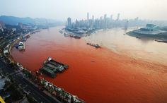 Why has the Yangtze river turned red?