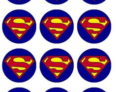 superman cupcake labels