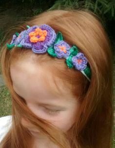 Opaska na szydełku - crochet headband