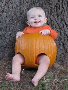 Inexpensive Pumpkin/Jack-O-Lantern Halloween Costume  sc 1 st  Pinterest : 9 month old halloween costume  - Germanpascual.Com