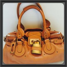 Rise-on Chloe Paddington Drak Brown Leather Handbag Shoulder Bag