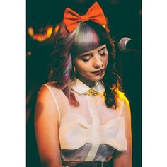 Melanie Martinez from The Voice scorches in our Lemon Bow Dress worn during her show at Webster Hall in NYC!