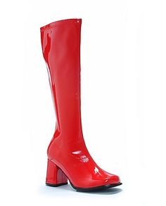 Womens Red GoGo Boots - Spencer's