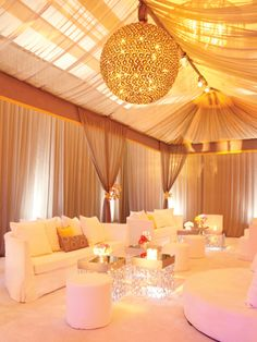 Chic reception lounge