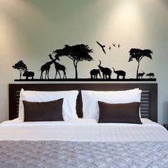 Safari Wall Decal Jungle Animal Stickers Nursery Decor