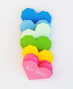 coeur dépliable en origami. Modèle à télécharger #printable // by minieco