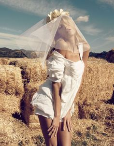 "Anja Rubik photographed by Camilla Akrans in ""The Farmer's Daughter"" for Vogue Nippon, March 2010 — Portraits Of Girls Anja Rubik, Vogue Japan, Editorial Photography, Amazing Photography, Fashion Photography, Camilla, Indie, Grunge, Frida Gustavsson"