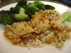 cashew chicken.   -i like the method described for toasting cauliflower rice here...would probable yield a more rice-like texture
