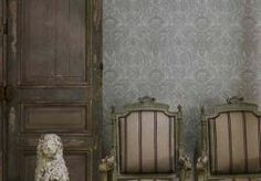 andrew martin - kew wallpaper - charcoal - nuwave wallpaper