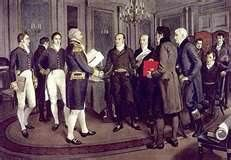 Treaty of Ghent- The Treaty of Ghent was a treaty signed between the United States and Great Britain, ending the War of 1812. It was signed in Ghent, Belgium. In the treaty, the British agreed to evacuate their western posts. The British did not pursue a buffer state for neutral Indian people in the Northwest and the treaty didn't address neutrality or impressment; the two major causes of the War of 1812.