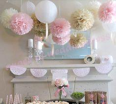Pompom wedding lantarn