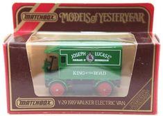 Matchbox Models of Yesteryear - Y-29 - 1919 Walker Electric Van Joseph Lucas Ltd