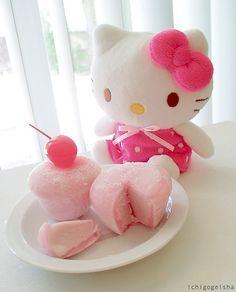 pink mochi + recipe for ice-cream mochi