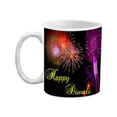 Buy EFW Happy Diwali Printed Ceramic Coffee Mug -325 Ml by Elegant Fashion World, on Paytm, Price: Rs.278