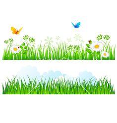 Grass border vector image on VectorStock Boarders For Bulletin Boards, Flex Banner Design, Landscape Diagram, Powerpoint Background Templates, Printable Border, Forearm Band Tattoos, Frame Border Design, Mosaic Tile Art, Tulip Painting