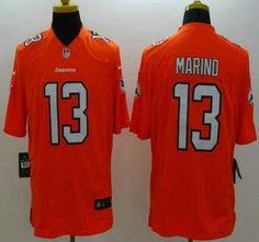 nike miami dolphins jersey 13 dan marino 2013 orange limited jerseys