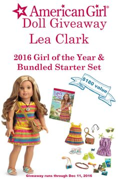 Enter to win American Girl's 2016 Girl of the Year Lea Clark Lea Clark™, the 2016 Girl of the Year, dives in to new adventures and explores what's in her heart. The 18″ Lea doll is only available until 12/31/16, … Continue reading →