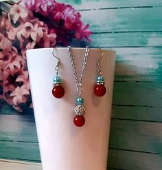 Wedding Necklaces, Wedding Earrings, Wedding Jewelry, Groom Gifts, Bride Gifts, Stocking Fillers, Stocking Stuffers, Autumn Wedding, Spring Wedding